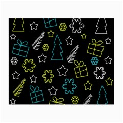 Xmas pattern - Blue and yellow Small Glasses Cloth