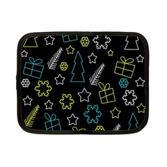 Xmas pattern - Blue and yellow Netbook Case (Small)