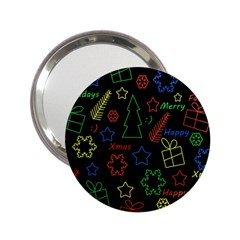 Playful Xmas pattern 2.25  Handbag Mirrors