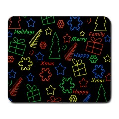 Playful Xmas pattern Large Mousepads