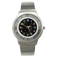 Playful Xmas pattern Stainless Steel Watch