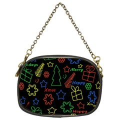 Playful Xmas pattern Chain Purses (Two Sides)