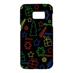 Playful Xmas pattern Samsung Galaxy S7 Hardshell Case