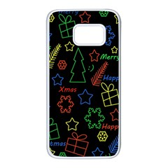Playful Xmas pattern Samsung Galaxy S7 White Seamless Case