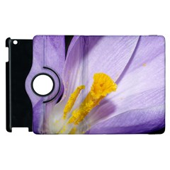 Purple Crocus Apple Ipad 2 Flip 360 Case