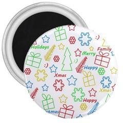 Simple Christmas pattern 3  Magnets