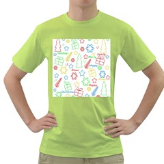 Simple Christmas pattern Green T-Shirt
