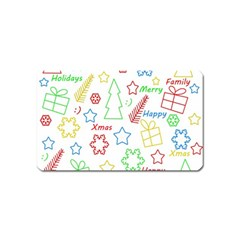 Simple Christmas pattern Magnet (Name Card)