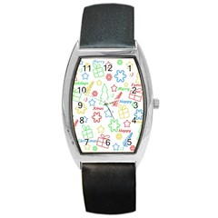 Simple Christmas pattern Barrel Style Metal Watch