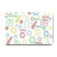 Simple Christmas pattern Small Doormat
