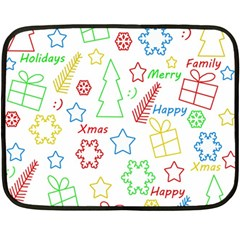 Simple Christmas pattern Double Sided Fleece Blanket (Mini)