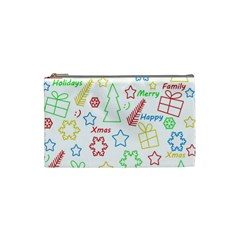 Simple Christmas pattern Cosmetic Bag (Small)