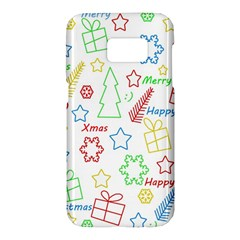Simple Christmas pattern Samsung Galaxy S7 Hardshell Case