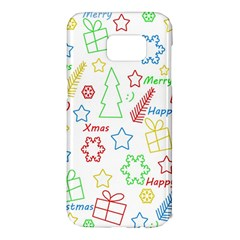 Simple Christmas pattern Samsung Galaxy S7 Edge Hardshell Case