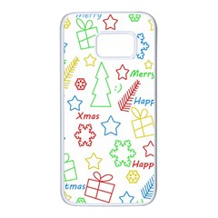 Simple Christmas pattern Samsung Galaxy S7 White Seamless Case
