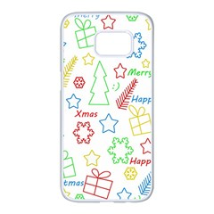 Simple Christmas pattern Samsung Galaxy S7 edge White Seamless Case