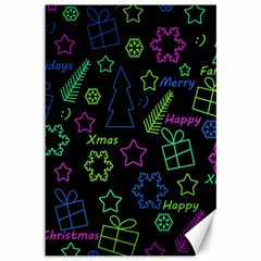 Decorative Xmas Pattern Canvas 12  X 18