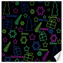 Decorative Xmas pattern Canvas 20  x 20