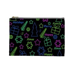 Decorative Xmas pattern Cosmetic Bag (Large)