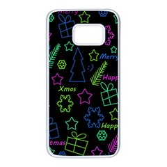 Decorative Xmas pattern Samsung Galaxy S7 White Seamless Case