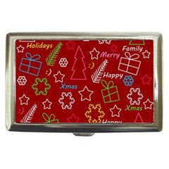 Red Xmas pattern Cigarette Money Cases