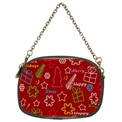Red Xmas pattern Chain Purses (Two Sides)