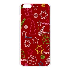 Red Xmas pattern Apple Seamless iPhone 6 Plus/6S Plus Case (Transparent)