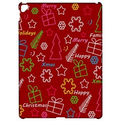 Red Xmas pattern Apple iPad Pro 12.9   Hardshell Case