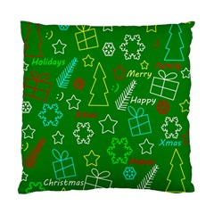 Green Xmas pattern Standard Cushion Case (Two Sides)