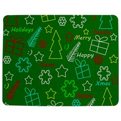 Green Xmas pattern Jigsaw Puzzle Photo Stand (Rectangular)