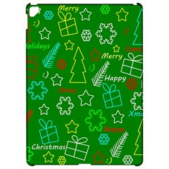 Green Xmas pattern Apple iPad Pro 12.9   Hardshell Case