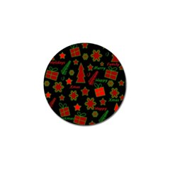 Red and green Xmas pattern Golf Ball Marker (10 pack)