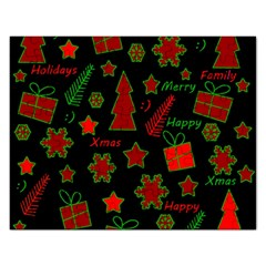 Red and green Xmas pattern Rectangular Jigsaw Puzzl