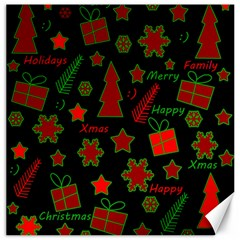 Red and green Xmas pattern Canvas 12  x 12