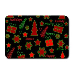 Red and green Xmas pattern Plate Mats