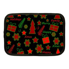 Red and green Xmas pattern Netbook Case (Medium)