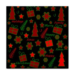 Red and green Xmas pattern Face Towel