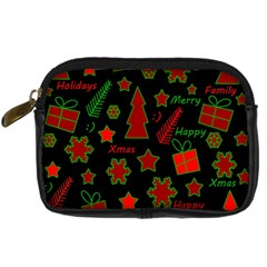 Red and green Xmas pattern Digital Camera Cases