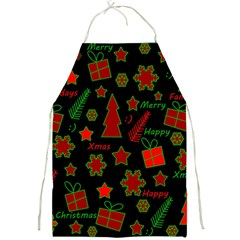 Red and green Xmas pattern Full Print Aprons