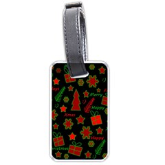 Red and green Xmas pattern Luggage Tags (One Side)