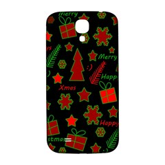 Red And Green Xmas Pattern Samsung Galaxy S4 I9500/i9505  Hardshell Back Case