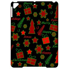 Red And Green Xmas Pattern Apple Ipad Pro 9 7   Hardshell Case