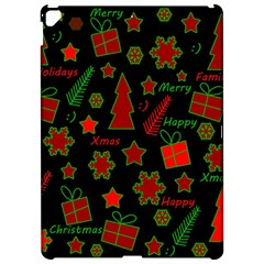 Red and green Xmas pattern Apple iPad Pro 12.9   Hardshell Case