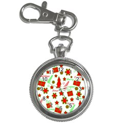 Red and green Christmas pattern Key Chain Watches