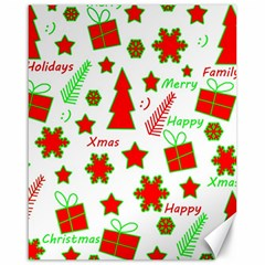 Red and green Christmas pattern Canvas 16  x 20