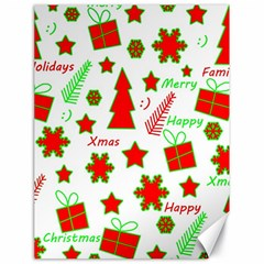 Red and green Christmas pattern Canvas 18  x 24