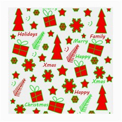 Red and green Christmas pattern Medium Glasses Cloth