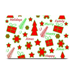 Red and green Christmas pattern Plate Mats