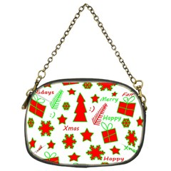 Red and green Christmas pattern Chain Purses (One Side)