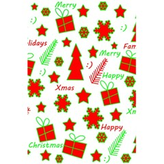 Red and green Christmas pattern 5.5  x 8.5  Notebooks